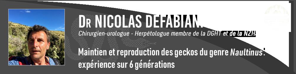 Dr Nicolas DEFABIANI
